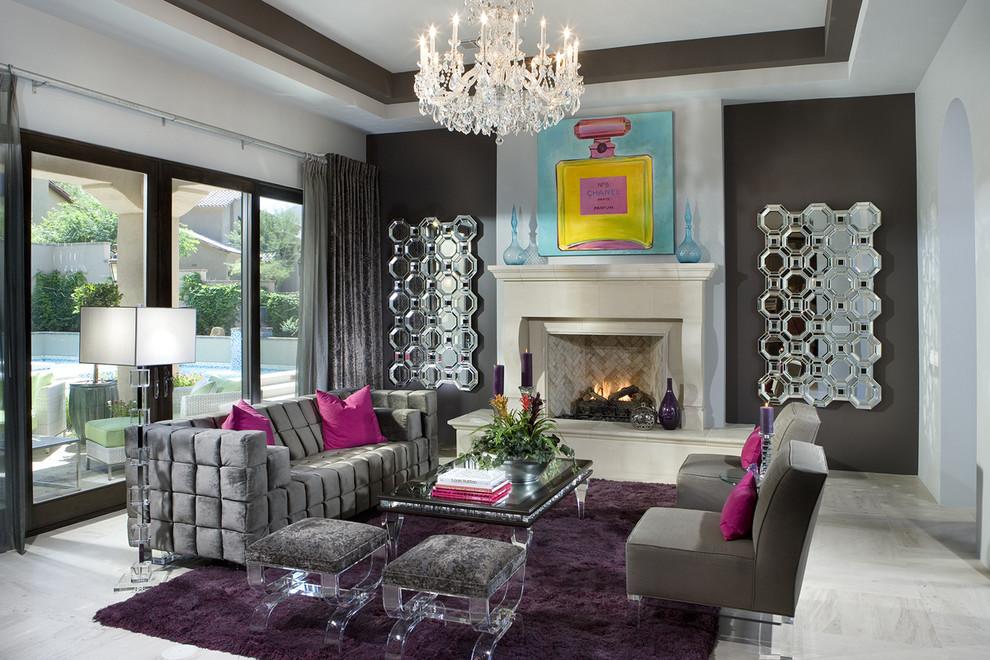 غرفة جلوس مودرن بتفاصيل كلاسيكية 2 غرف معيشة أنيقة تجمع عصرية المودرن وفخامة الكلاسيك