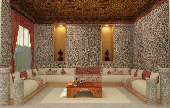 غرفة جلوس 2 ديكورات عربية في غاية الفخامة لمنزلك