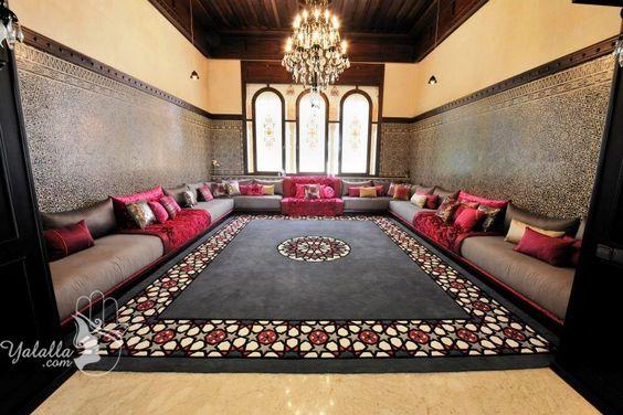 غرفة جلوس 3 ديكورات عربية في غاية الفخامة لمنزلك