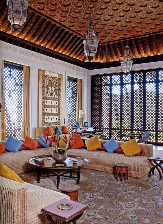 غرفة جلوس 4 ديكورات عربية في غاية الفخامة لمنزلك