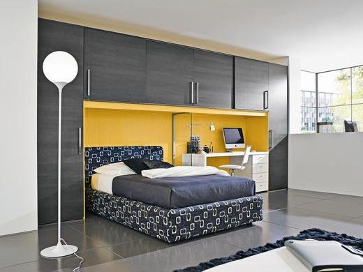 غرفة نوم رمادي