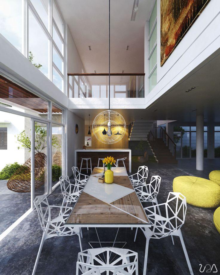 غرفة سفرة بتصميم متميز 1 غرف طعام فريدة لمنزل عصري جدًا