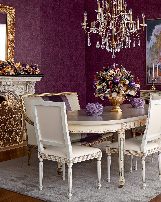 غرفة سفرة راقية 10 1200x1500 الرقي والفخامة في تصميمات غرف سفرة كلاسيكية بألوان هادئة