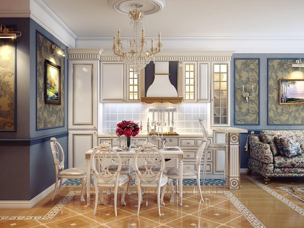 %name الرقي والفخامة في تصميمات غرف سفرة كلاسيكية بألوان هادئة