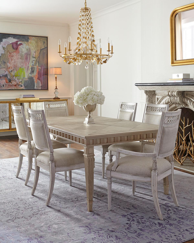 غرفة سفرة راقية 4 1200x1500 الرقي والفخامة في تصميمات غرف سفرة كلاسيكية بألوان هادئة