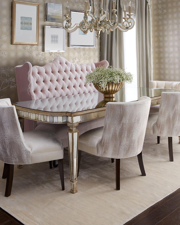 غرفة سفرة راقية 8 1200x1500 الرقي والفخامة في تصميمات غرف سفرة كلاسيكية بألوان هادئة