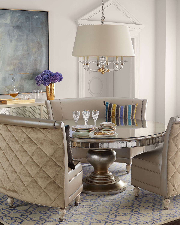 غرفة سفرة راقية 9 1200x1500 الرقي والفخامة في تصميمات غرف سفرة كلاسيكية بألوان هادئة
