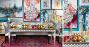 كيف تختارين ألوان واكسسوارات متميزة لتحقيق الفخامة في غرفة السفرة