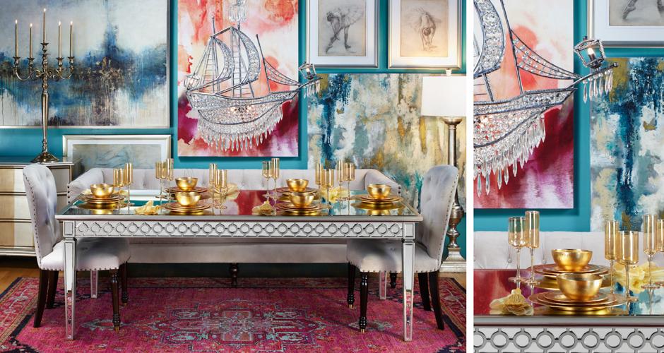 غرفة سفرة فخمة 10 كيف تختارين ألوان واكسسوارات متميزة لتحقيق الفخامة في غرفة السفرة