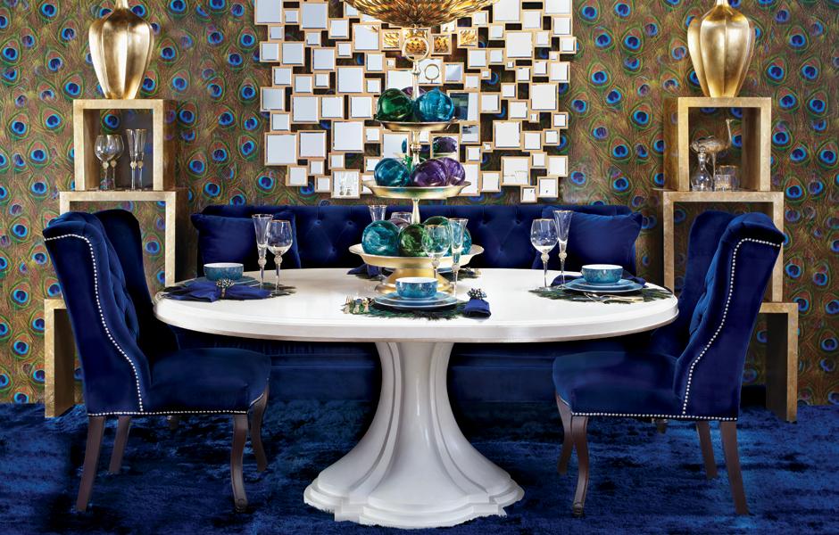 غرفة سفرة فخمة 8 كيف تختارين ألوان واكسسوارات متميزة لتحقيق الفخامة في غرفة السفرة