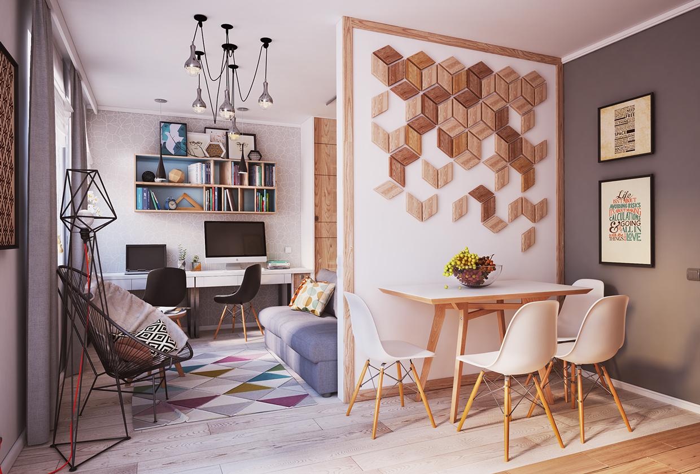 غرفة طعام صغيرة أفكار ممتازة للمساحات الصغيرة في تصميم شقة سكنية رائعة