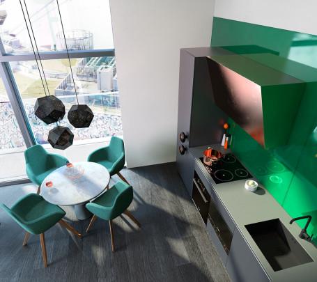 غرفة طعام ومطبخ مودرن 1ا
