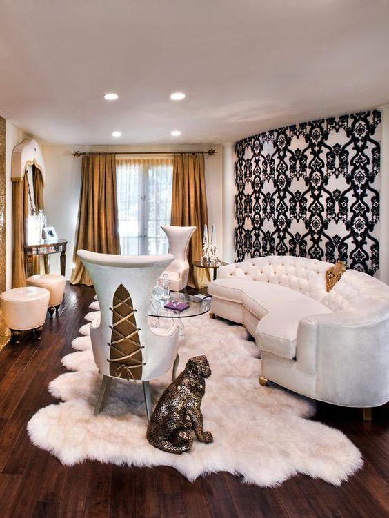 غرفة معيشة بيضاء غرف معيشة تجمع بين الفخامة و الذوق العصري الحديث