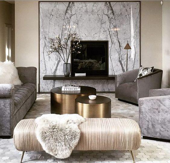 غرفة معيشة رمادي غرف معيشة تجمع بين الفخامة و الذوق العصري الحديث