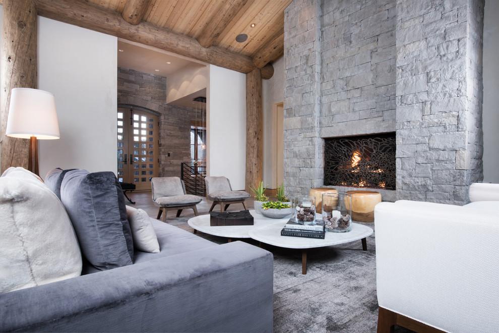 غرفة معيشة روستيك 1ا أناقة وفخامة الروستيك في تصميمات غرف معيشة متميزة جدًا
