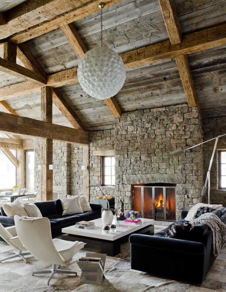 غرفة معيشة روستيك 2 أناقة وفخامة الروستيك في تصميمات غرف معيشة متميزة جدًا