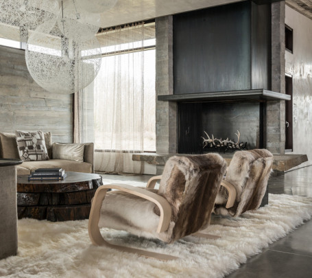 أناقة وفخامة الروستيك في تصميمات غرف معيشة متميزة جدًا