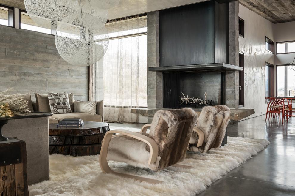 غرفة معيشة روستيك 3ا أناقة وفخامة الروستيك في تصميمات غرف معيشة متميزة جدًا