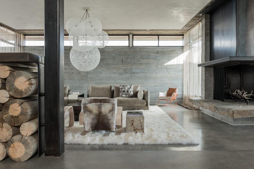 غرفة معيشة روستيك 3 أناقة وفخامة الروستيك في تصميمات غرف معيشة متميزة جدًا
