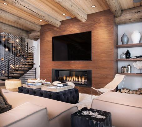 غرفة معيشة روستيك 4