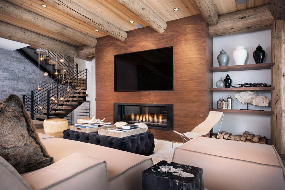 غرفة معيشة روستيك 4 أناقة وفخامة الروستيك في تصميمات غرف معيشة متميزة جدًا