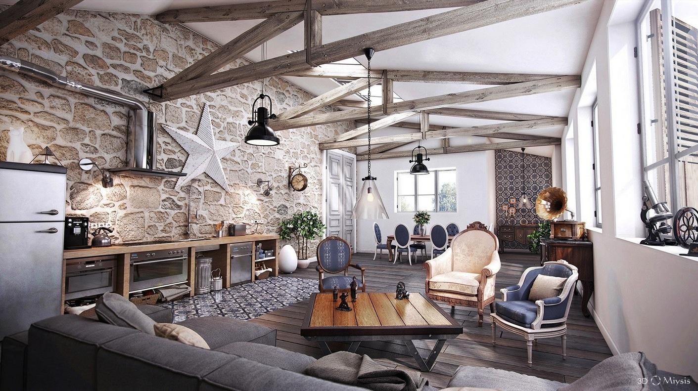 %name أناقة وفخامة الروستيك في تصميمات غرف معيشة متميزة جدًا