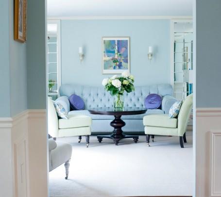 غرفة معيشة زرقاء 2