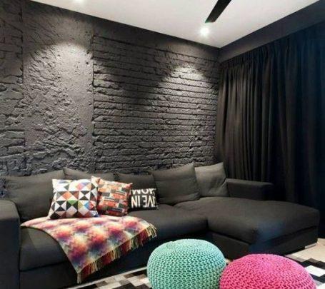 غرفة معيشة سوداء