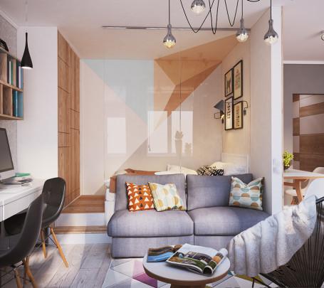 غرفة معيشة صغيرة 1ا
