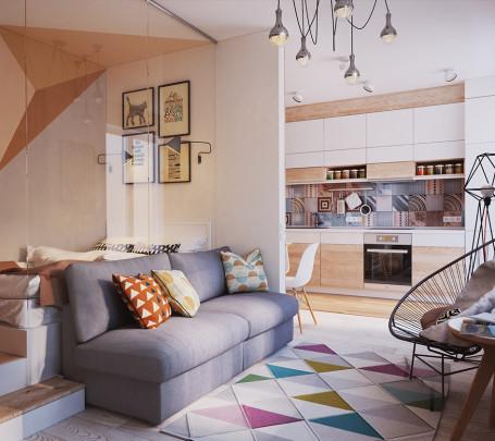 غرفة معيشة صغيرة 1