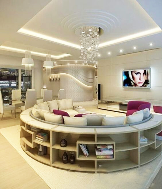 غرفة معيشة فخمة 1 غرف معيشة تجمع بين الفخامة و الذوق العصري الحديث