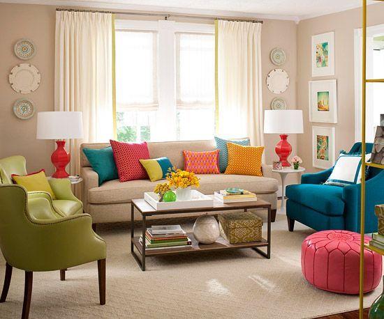 غرفة معيشة ملونة غرفة معيشة ملونة
