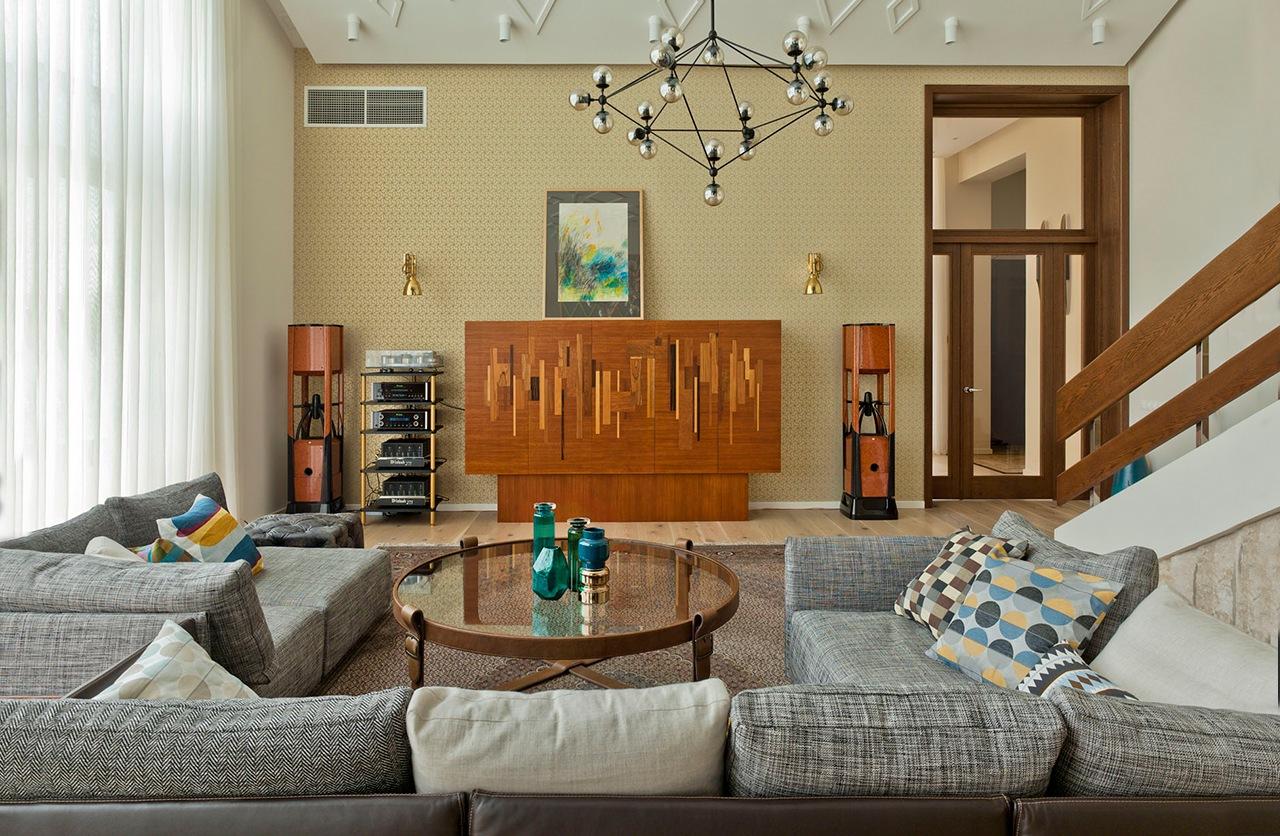 غرفة معيشة مودرن 1ا العصرية والفخامة في تصميم منزل متميز جدًا