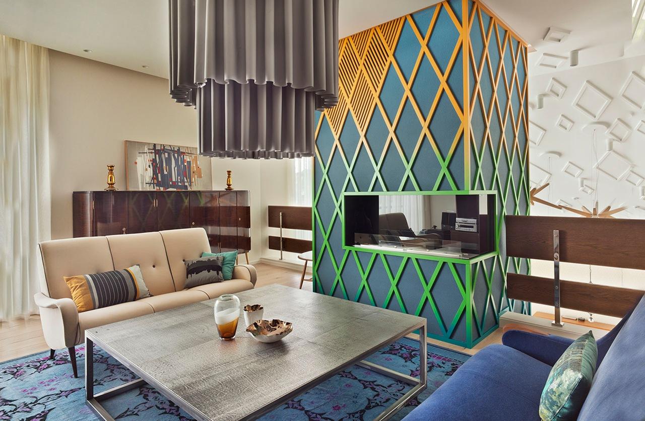 غرفة معيشة مودرن 2ا العصرية والفخامة في تصميم منزل متميز جدًا