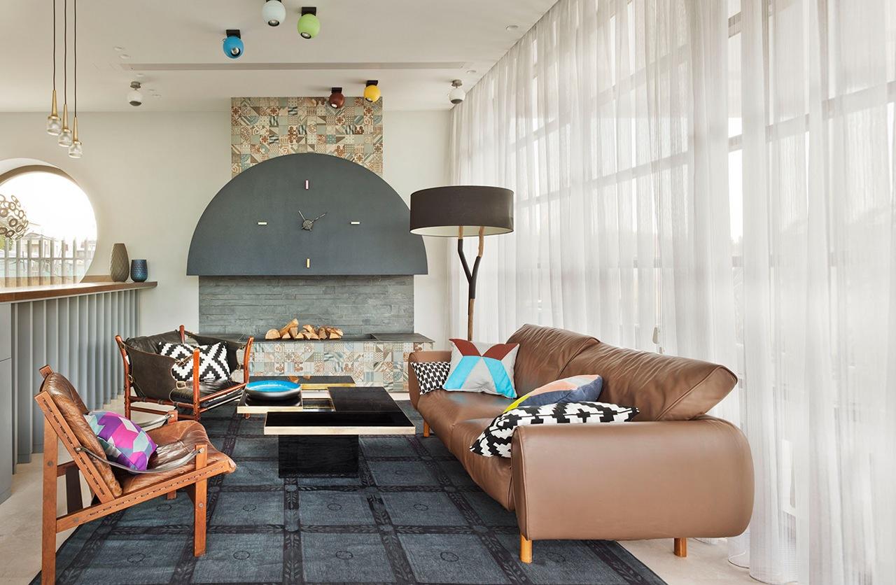 غرفة معيشة مودرن 31 العصرية والفخامة في تصميم منزل متميز جدًا
