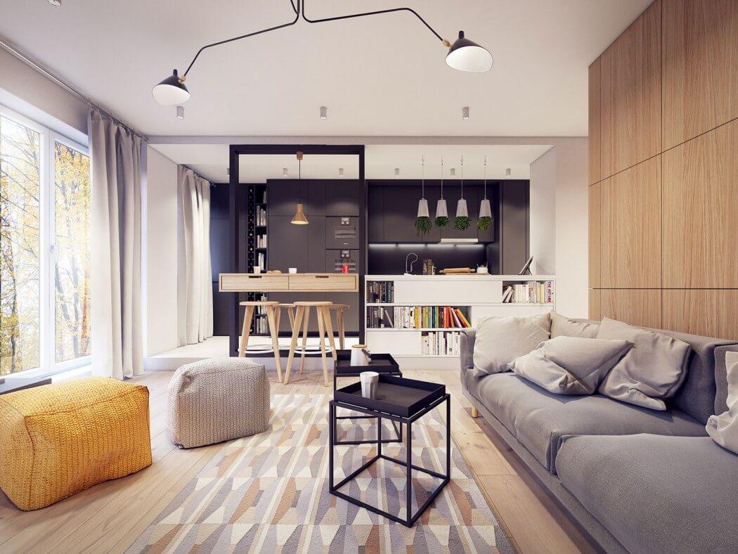 غرفة معيشة مودرن 41 أفكار رائعة وديكورات مبتكرة في منزل مودرن متميز