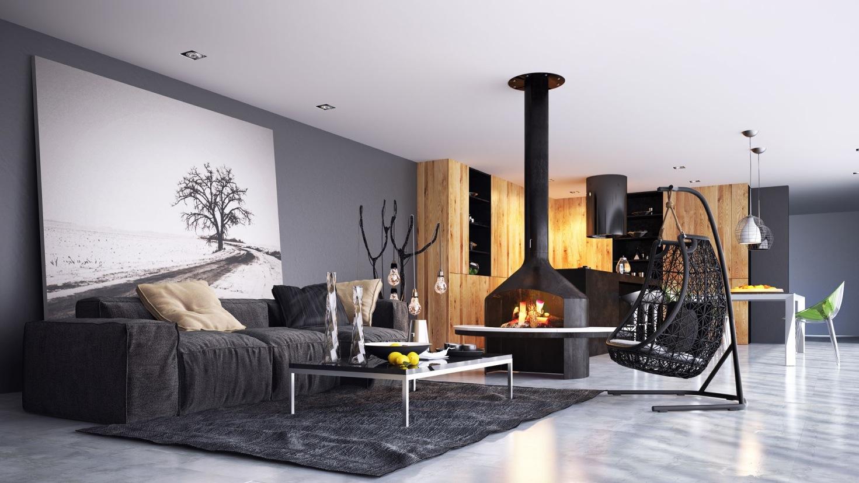 غرفة معيشة مودرن 5 أناقة البساطة في غرف معيشة مودرن بديكورات رائعة