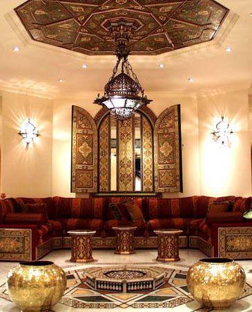 غرفة معيشة 7 ديكورات عربية في غاية الفخامة لمنزلك