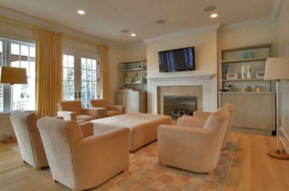 غرفة معيشة 9 شاهدي أناقة منزل النجمة جينيفر لوبيز (Jennifer Lopez)