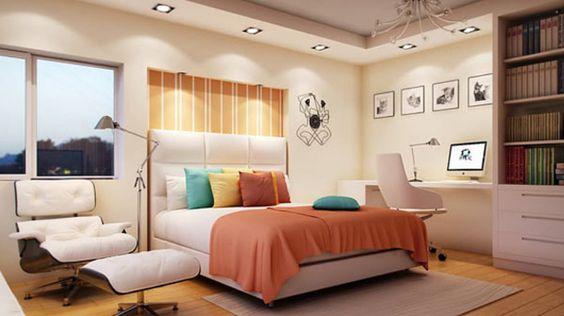 غرفة نوم برتقالي