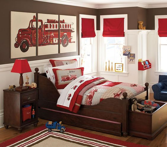 غرفة نوم بني