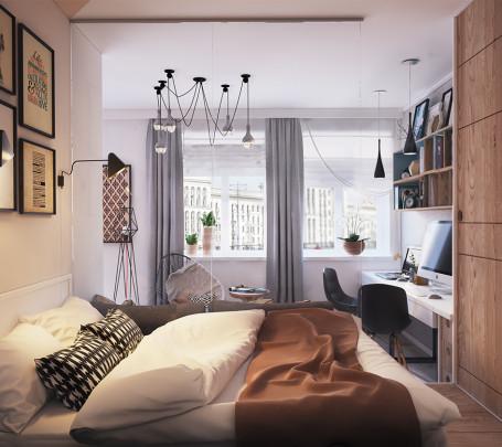 أفكار ممتازة للمساحات الصغيرة في تصميم شقة سكنية رائعة