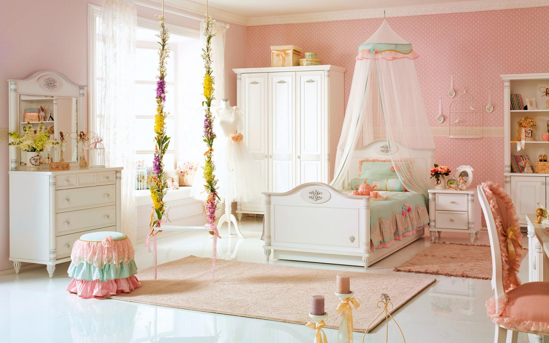 غرفة نوم فتيات رومانسية 1 1500x938 الأناقة والرومانسية في غرف نوم فتيات رائعة الجمال