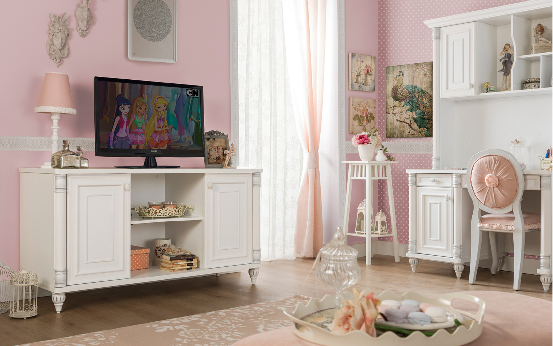 غرفة نوم فتيات رومانسية 2ا 1500x938 الأناقة والرومانسية في غرف نوم فتيات رائعة الجمال