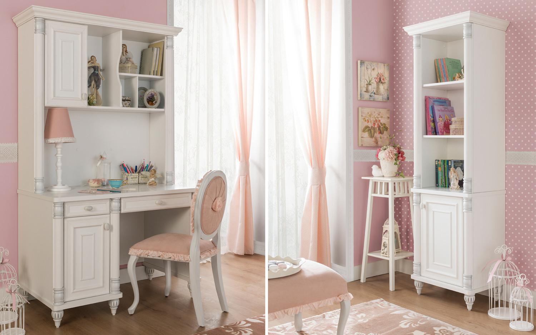 غرفة نوم فتيات رومانسية 2ب 1500x938 الأناقة والرومانسية في غرف نوم فتيات رائعة الجمال