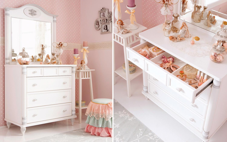 غرفة نوم فتيات رومانسية 2ج1 1500x938 الأناقة والرومانسية في غرف نوم فتيات رائعة الجمال