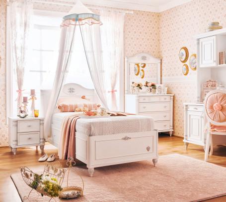 غرفة نوم فتيات رومانسية 2