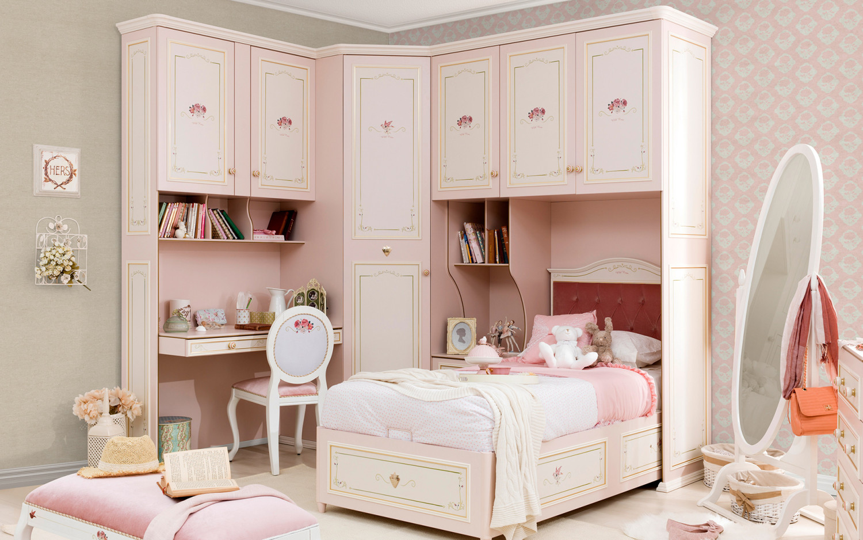غرفة نوم فتيات رومانسية 3ا 1500x938 الأناقة والرومانسية في غرف نوم فتيات رائعة الجمال