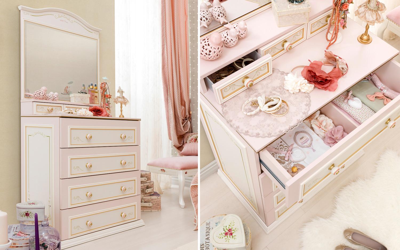 غرفة نوم فتيات رومانسية 3ج 1500x938 الأناقة والرومانسية في غرف نوم فتيات رائعة الجمال
