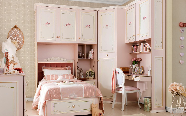غرفة نوم فتيات رومانسية 3 1500x938 غرفة نوم فتيات رومانسية 3